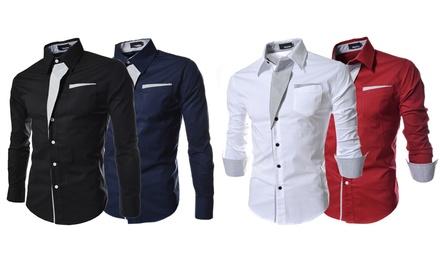 Men's Contrast Trim Fashion Shirt