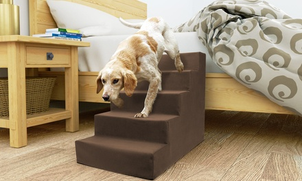 High-Density Foam Stairs for Pets with Removable Cover