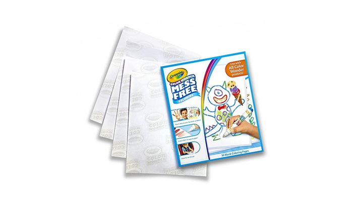 crayola color wonder 30 page refill paper up to 20 off on crayola color wonder paper groupon goods