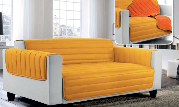 Prime Quilted Sofa Cover Groupon Goods Caraccident5 Cool Chair Designs And Ideas Caraccident5Info