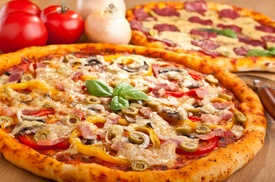 "Papa Saverio's: $10 Off Any Two 16"" or Larger Pizzas at Papa Saverio's"