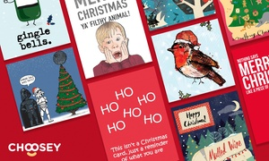 Choosey.com (UK): 50% Off Personalised Christmas and Greeting Cards at Choosey.com