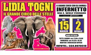 Circo Lidia Togni: Circo Lidia Togni - Spettacoli dal 15 marzo al 2 aprile 2018 a Roma Infernetto, via E. Wolf Ferrari