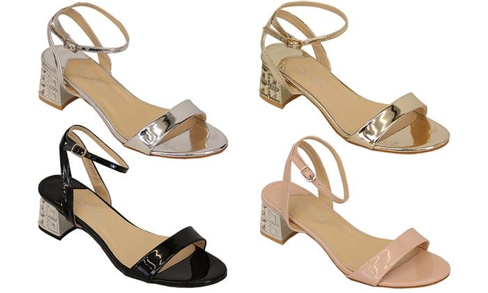 women's low block heel sandals