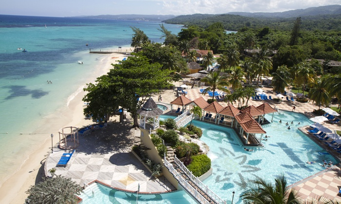 All-Inclusive Jewel Dunn's River Beach Resort and Spa with Airfare - Ocho Rios, Jamaica: 4- or 6-NIght All-Inclusive Jamaica Vacation with Airfare from Vacation Express. Price/Person Based on Double Occupancy.
