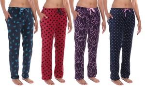 Noble Mount Women's Soft Plush Coral Fleece Sleep Pants