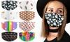 3, 5 ou 10 masques en coton imprimés et réutilisables
