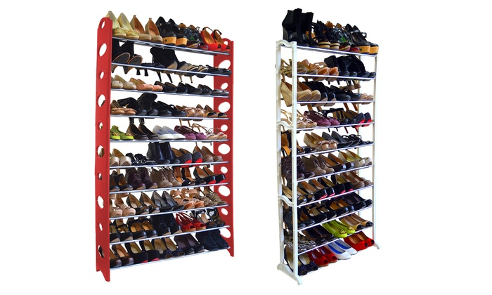 Maison Condelle 40- or 50-Pair Shoe Rack   Groupon