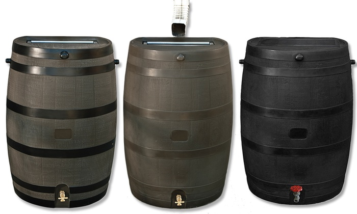 eco 50gallon flat back rain barrels eco 50gallon flat back rain