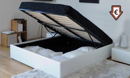 lit coffre et sommier groupon. Black Bedroom Furniture Sets. Home Design Ideas