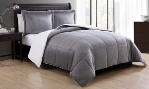 Micromink and Sherpa Reversible Comforter Set (2- or 3-Piece)