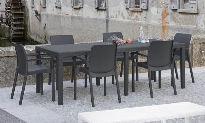 Tavolo Per Esterno Allungabile.Fino A 16 Su Set Sun Allungabile Con Sedie Groupon