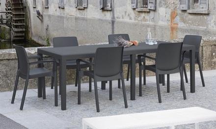 Tavolo Allungabile Da Esterno Prezzi.Set Da Giardino Sun Con Tavolo Allungabile E 4 O 6 Sedie In 3
