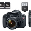 Canon Rebel T5 18MP DSLR Camera with 18-55mm and 75-300mm Lens Bundle