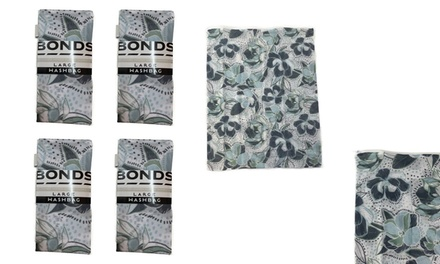 $19.95 for a Four-Pack of Bonds Large Washbags in Floral Print