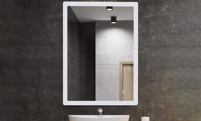 Led Illuminated Bathroom Mirror Groupon Goods