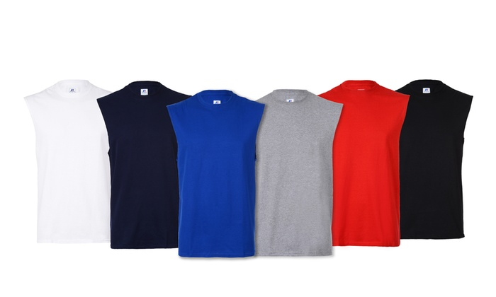 10eb7858 Russell Athletic Men's Sleeveless Tees (5-Pack) (Size 3XL) | Groupon