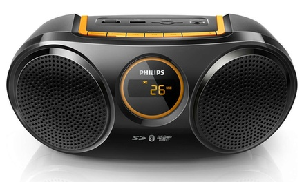 $69.95 for a Philips Rechargeable Portable Wireless Speaker Bluetooth USB SD FM Radio AT10 Don't Pay $89.95