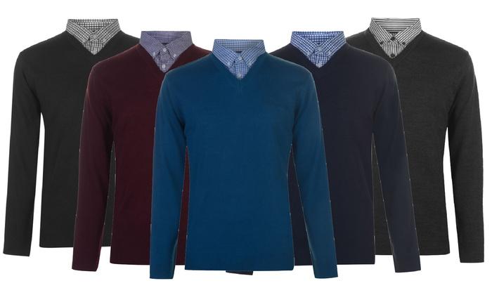 Pierre Cardin trui met V hals voor heren