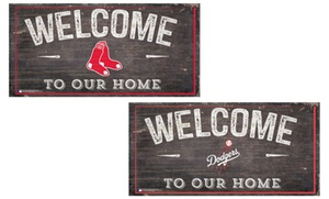 MLB Distressed Welcome Sign