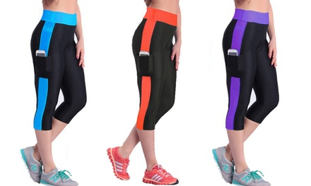 One $15 or Two $25 Pairs of Capri Sport Leggings with Pocket Don't Pay up to $159