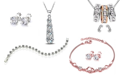Selectie van Victoria´s Candy sieraden, versierd met kristallen van Swarovski