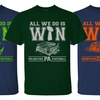 Men's Football-Themed Cotton T-Shirt. Extended Sizes Available.