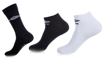 Pack de 9, 12 ou 15 paires de Chaussettes de la marque Umbro pour Homme