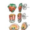 Shopkins Kids Stud Earrings Set in Aluminum (3-Piece)