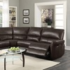 Amaris Bonded Leather Reclining Sectional Sofa with USB Ports (5-Pc.)