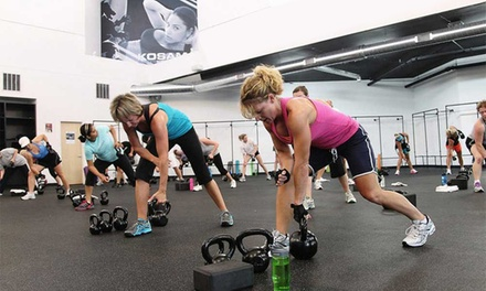 One Month of Unlimited Fitness Classes Including Enrollment Fee for One or Two at Kosama (Up to 83% Off)