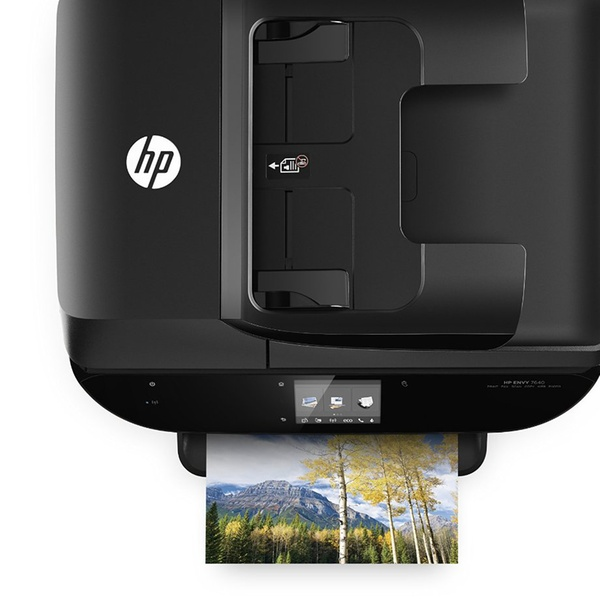 HP Envy 7640 All-in-One Color Inkjet Photo Printer, Scanner, Copier, and  Fax Machine with Mobile Printing (Refurbished)