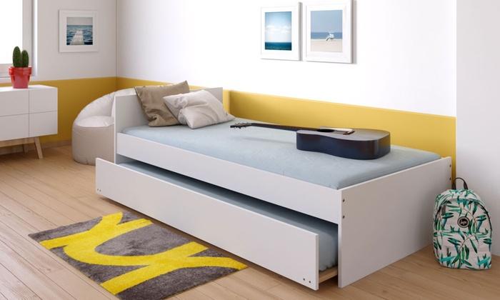 lit gigogne podium t te de lit groupon. Black Bedroom Furniture Sets. Home Design Ideas