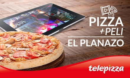 1 o 2 pizzas medianas o familiares y 1 o 2 películas de Sony Pictures desde 5,95 € conTelepizza