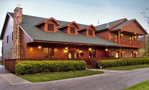 2 Nights In A Sunset Queen Room For Two W/ Chocolate And Long Stem Rose In Vase At Berry Springs Lodge In Gatlinburg, Tn