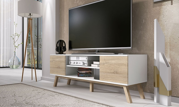 mobile porta tv vero wood groupon goods. Black Bedroom Furniture Sets. Home Design Ideas