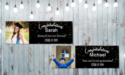 Custom Grommeted All-Weather Vinyl Graduation Banner from MailPix—Great for Drive-Thru Celebrations