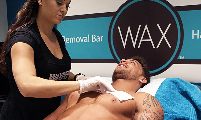 WAX Hair Removal Bar - Multiple Locations: Brazilian Waxes, Wax with Glitter Tattoo, or Men's Brazilian at Wax Hair Removal Bar (Up to 43% Off)