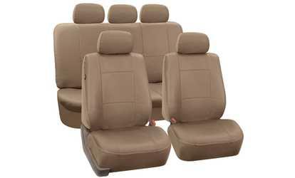 Shop Groupon Premium PU Leather Full Set Car Seat Covers
