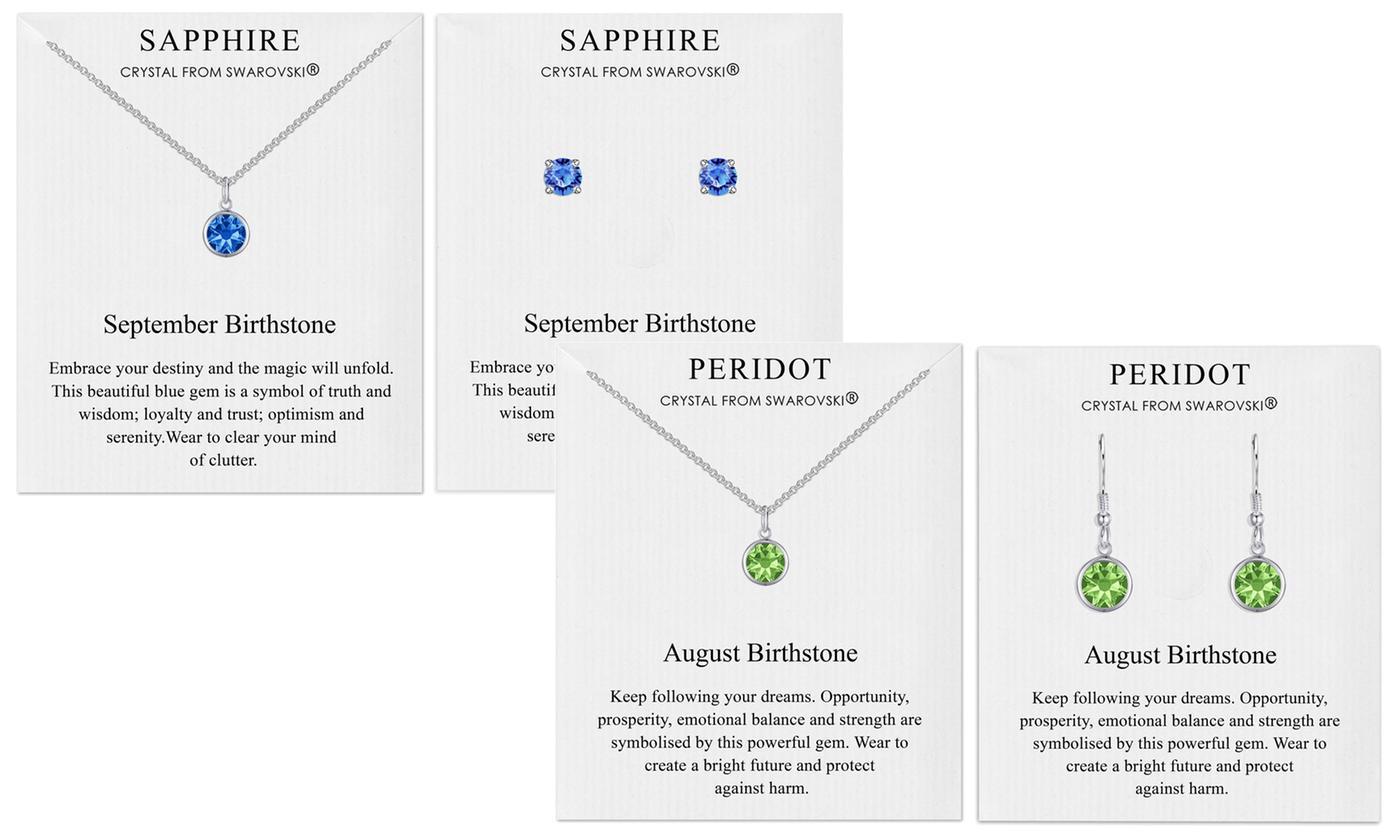 Phillip Jones Birthstone Set with Crystals from Swarovski®
