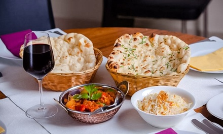 TwoCourse Indian Meal with Sides for Two or Four at Two States