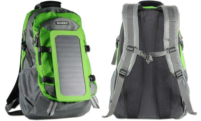 Zaino Trekking Con Pannello Solare : Zaino con caricabatterie solare groupon goods