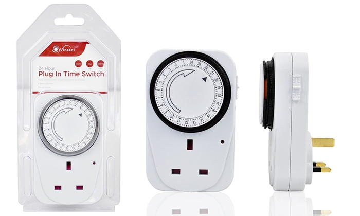 One, Two or Three Vinsani 24-Hour Plug-In Timer Switches