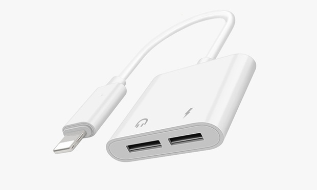 Lightning Audio and Charging Adapter for iPhone: One ($16.95) or Two ($29.95)