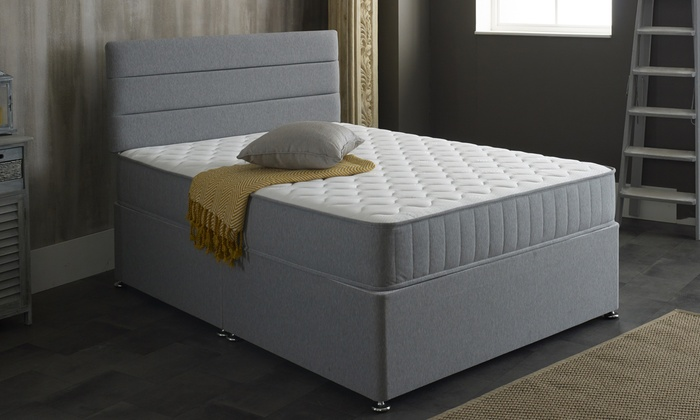 Grey Castle Memory Foam Sprung Mattress