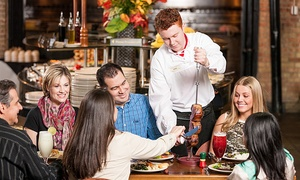 Rodizio Grill: Full Rodizio Dinner with Drinks and Desserts for Two or Four at Rodizio Grill (Up to 42% Off)