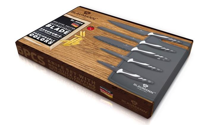 Set de cuchillos tabla de corte groupon goods for Set cuchillos villeroy boch tabla