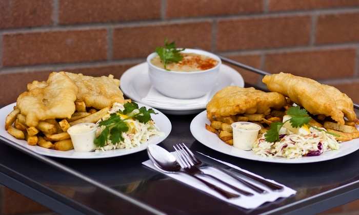 Sea Fish n' Chips - McKenzie Towne: Seafood Meal for Two or Four at Sea Fish n' Chips (Up to 41% Off)