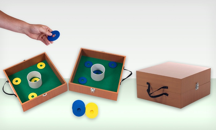 Washer Toss or Cornhole Games: Washer Toss or Official-Size Cornhole Game (Up to 52% Off). Free Shipping and Returns.