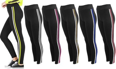 High Waist Stripe Leggings